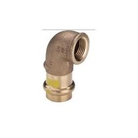 CURVA 90° RAME A PRESSARE ACQUA/GAS  F3/4x18
