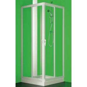 BOX ANGOLO SKIPPER VELA PROFILO BIANCO ANGOLO A 4 ANTE CM 65/70-85/90 PLEX FORTE BS109000001