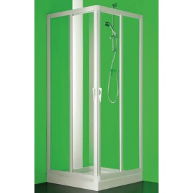 BOX SKIPPER ANTA FISSA CC PROFILO BIANCO CM 67-70 CRISTALLO TRASPARENTE BS110100501