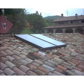 impianto solare 200L ad uso sanitario con bollitore monoserpitino KF200/2/T
