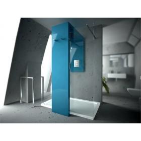 TERMOARREDO - BOX DOCCIA COMBINATO - MONOLITE 40 , PROFONDITA' [ 935MM ] CON PARETE FRONTALE CM120 IN CRISTALLO E PORTA